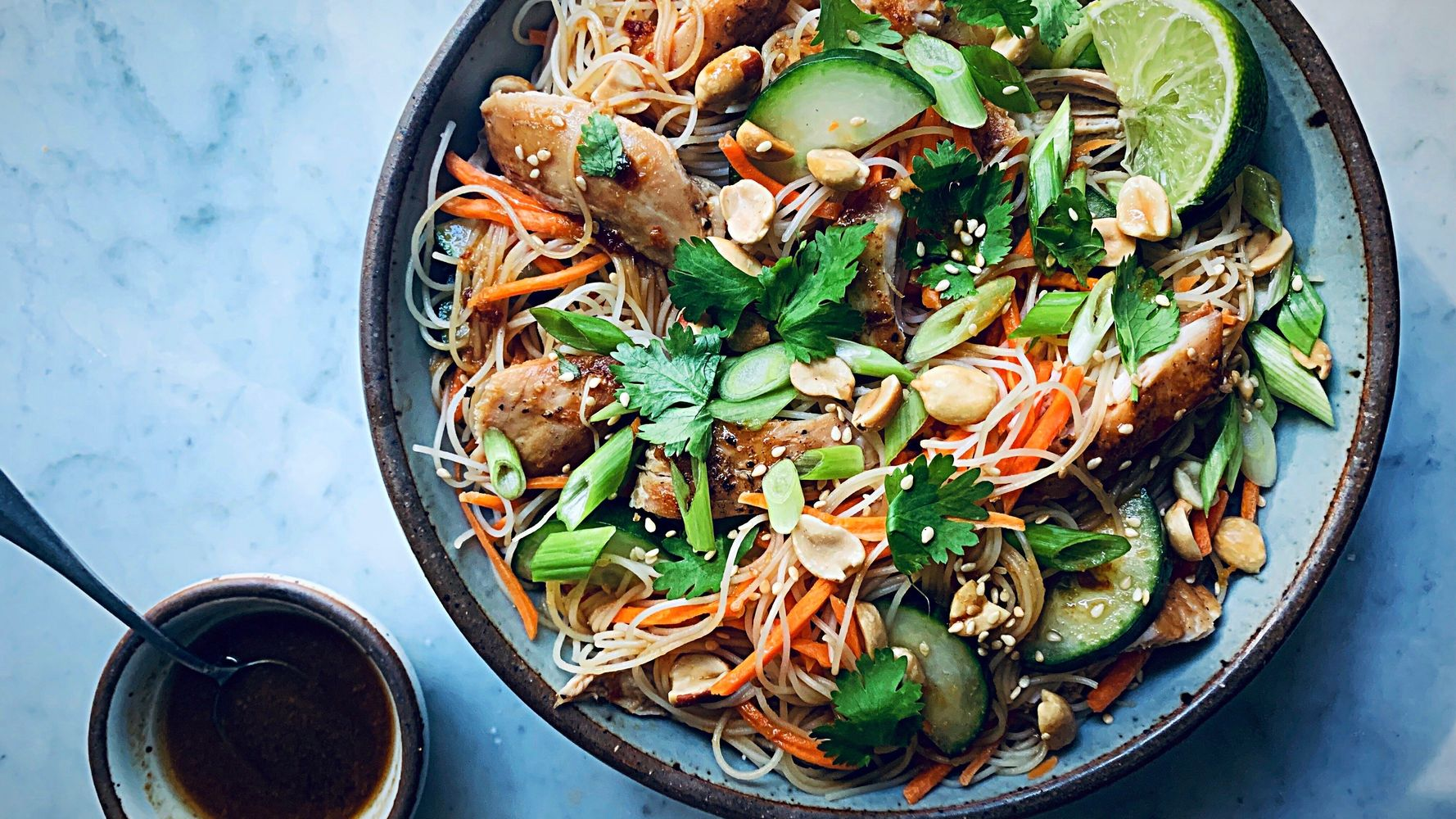 No-Cook Sesame Rice Noodle Salad, For When It's Too Hot To Cook