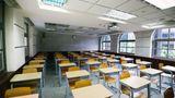 Empty classroom during lockdown