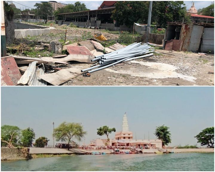 The site of the demolished Ram temple in Koradi village of Nagpur. Below is the picture of Ram Temples that once existed there.