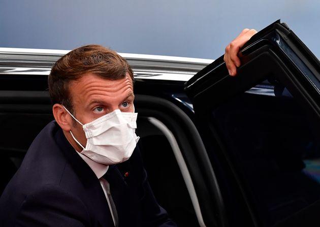Emmanuel Macron photographié à Bruxelles le 19 juillet