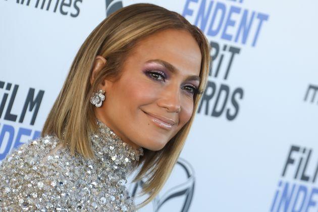 Jennifer Lopez en los premios Spirit en febrero de