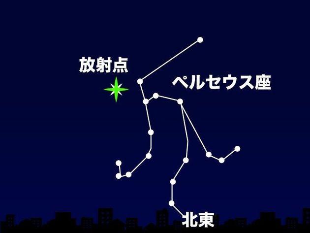 12日(水)22時頃 北東の空(東京)