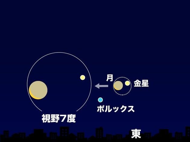 16日(日)4時1分頃 東の空(東京)