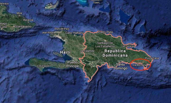 Situación de la provincia de La Romana, en la República Dominicana.