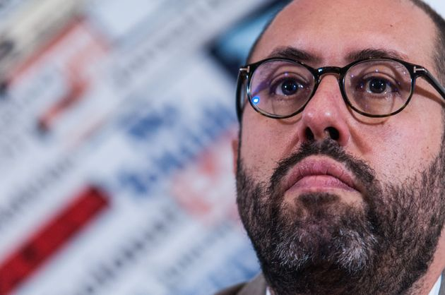 Press conference of the regent secretary of the Democratic Party, Maurizio Martina, together with Tommaso...