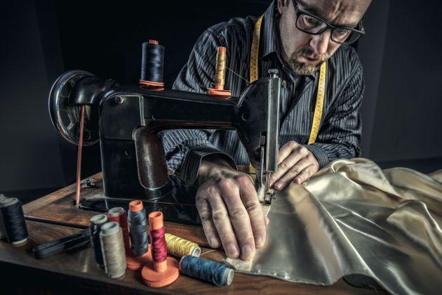 portrait of tailor at work vintage