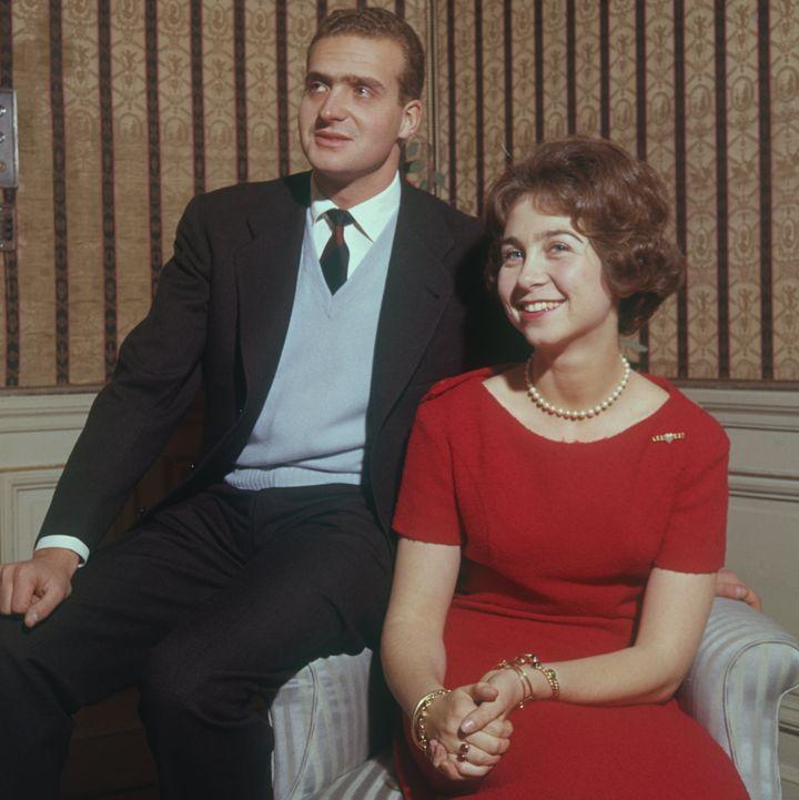Los reyes Juan Carlos I y Sofía antes de contraer matrimonio en 1962.