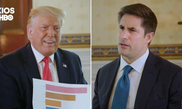 Lors d'un échange tendu avec un journaliste d'Axios, le président américain Donald Trump a soutenu que...