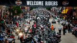 Bikes and rallygoers fill Main Street during the annual Sturgis Motorcycle Rally in Sturgis, South Dakota, August 4, 2015.  This year marks the 75th anniversary of the rally expected to draw hundreds of thousands of motorcycle enthusiasts from around the world for events throughout the week-long festival, according to organizers.  Photo taken August 4, 2015. REUTERS/Kristina Barker