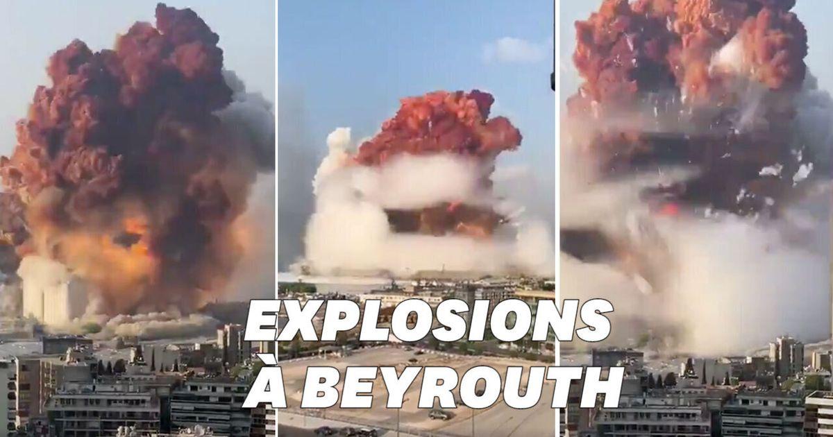 Les images terrifiantes de la double explosion survenue à Beyrouth