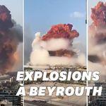 Les images terrifiantes de la double explosion survenue à