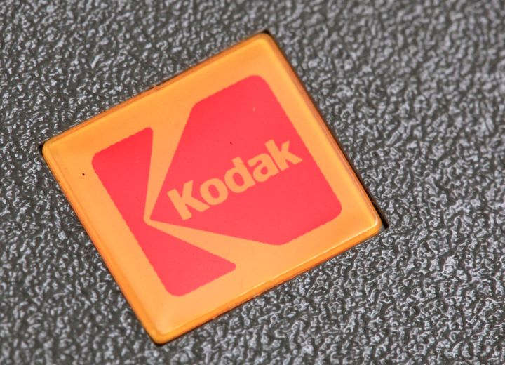 FILE - In this Jan. 25, 2011 file photo, a Kodak logo is shown on a slide projector in Philadelphia. Embattled photography pi