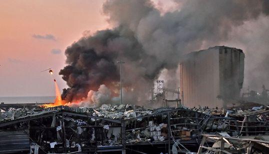 Εικόνες εμπόλεμης ζώνης στη Βηρυτό μετά την