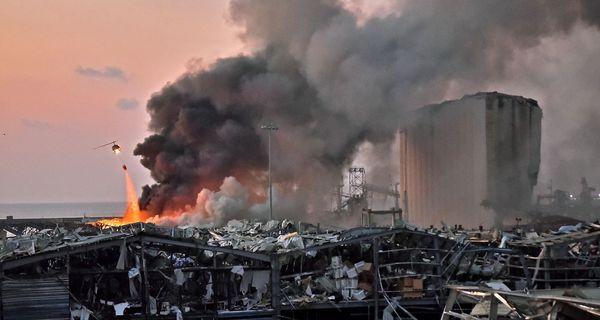 Εικόνες εμπόλεμης ζώνης στη Βηρυτό μετά την έκρηξη