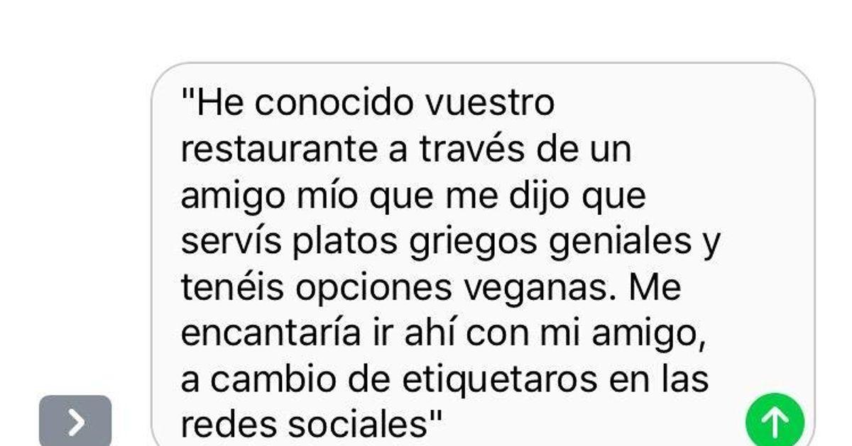 La respuesta de un restaurante a una influencer que quería comer gratis da la vuelta al mundo