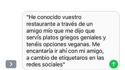 La respuesta de un restaurante a una influencer que quería comer gratis da la vuelta al