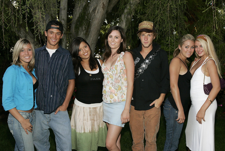 "Kristin Cavallari, Stephen Colletti, Lauren Conrad and other cast members of MTV's ""Laguna Beach: The Real Orange County"" (Photo by Jason Merritt/FilmMagic)"