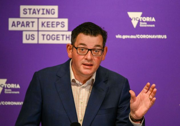 Victoria's state premier Daniel Andrews speaks during a press conference in Melbourne on August 5, 2020.