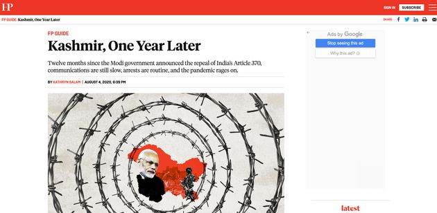 One Year After Article 370 Revocation: What International Media Is