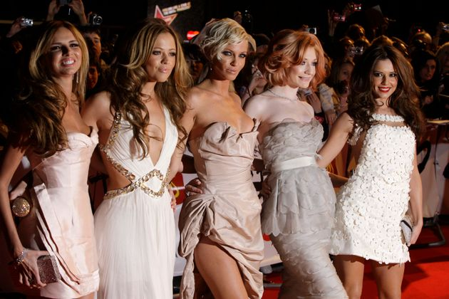 Girls Aloud pictured at the Brit Awards in