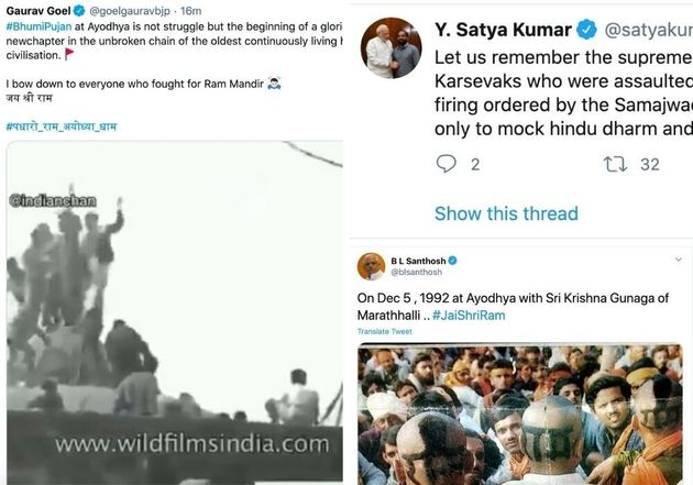 BJP Leaders Are Praising Violent Kar Sevaks Who Tore Down Babri
