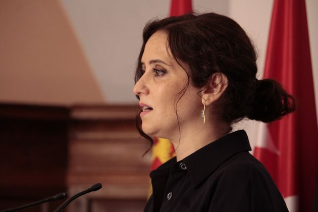 Isabel Díaz Ayuso, el 31 de julio de 2020 en San Millán de la Cogolla en la Conferencia...