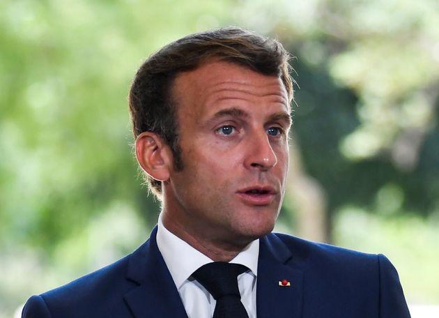 Emmanuel Macron, ici à Toulon le 4 août