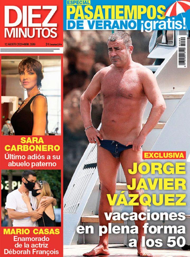 Mario Casas y Déborah François en la portada de 'Diez minutos'.