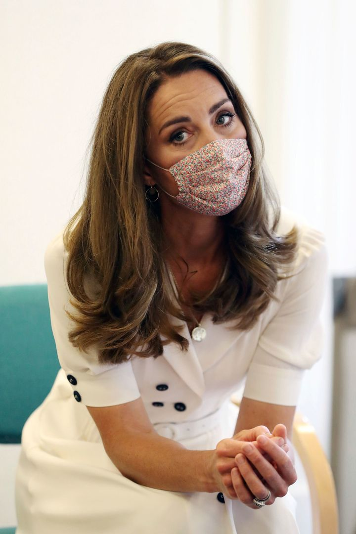 Coincidentally, the look on Kate's face is similar to ours when we see people sans face mask.