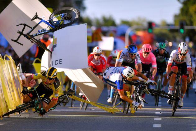 Ce mercredi 5 août, une chute terrible a eu lieu sur le Tour cycliste de