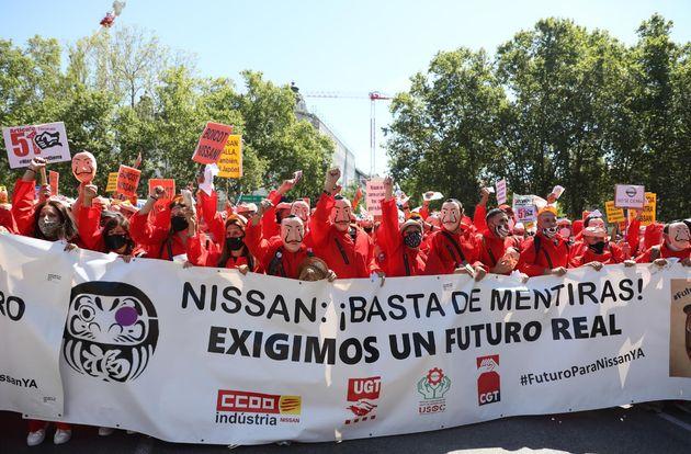 Trabajadores de Nissan