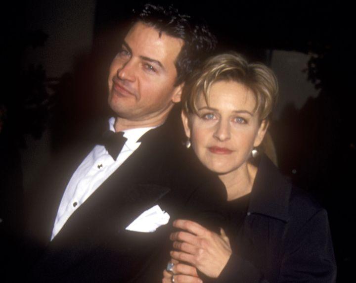 Vance (left) and Ellen DeGeneres in 1995.