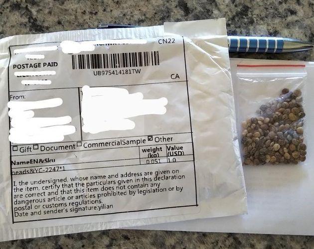 Non seulement les semences non sollicitées reçues par la poste pourraient présenter...