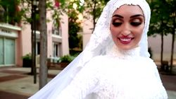 Lebanese Bride Almost Hit By Explosion While Filming Wedding