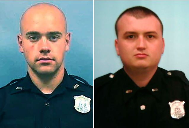 Rolfe (left), who authorities said fatally shot Brooks, and Devin Brosnan (right). Rolfe was immediately fired from the Atlan