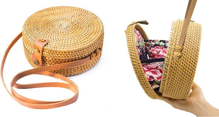 "This&nbsp;<a href=""https://amzn.to/2X7vZCR"" target=""_blank"" rel=""nofollow noopener noreferrer"">handwoven rattan crossbody bag from Amazon</a> is one of our shopping editor's&nbsp;favorite Amazon purchases of the year.&nbsp;"