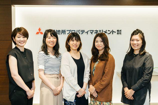 「あたらしい転勤」プロジェクトに参加した三菱地所プロパティマネジメントの女性社員たち