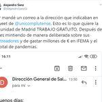 La respuesta de la Comunidad de Madrid a un joven enfermero que mandó un correo para ser