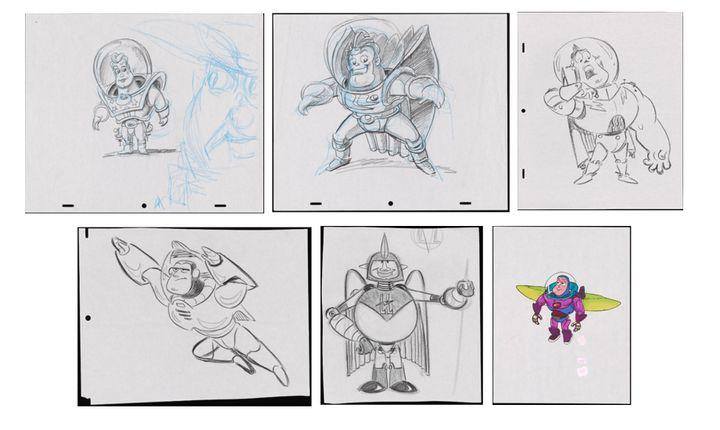 Los bocetos originales de Buzz Lightyear.