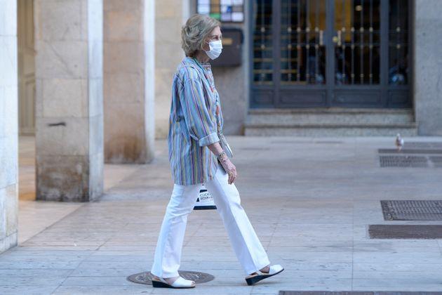 La reina Sofía reaparece en Mallorca tras la salida del rey Juan