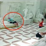 Tourist's 19th-Century Statue Photo-Op Goes Horribly