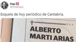 La llamativa esquela vista en un periódico de Cantabria que ya es historia de