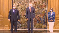 Primera aparición pública del rey Felipe VI tras la marcha de su
