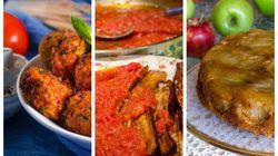 Κυριακάτικο Τραπέζι: Ντοματοκεφτέδες, μελιτζάνες με ντομάτα και μηλόπιτα με καραμελωμένα μήλα και