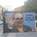 El autor del grafiti del rey Juan Carlos, tras ser parado por la Policía: