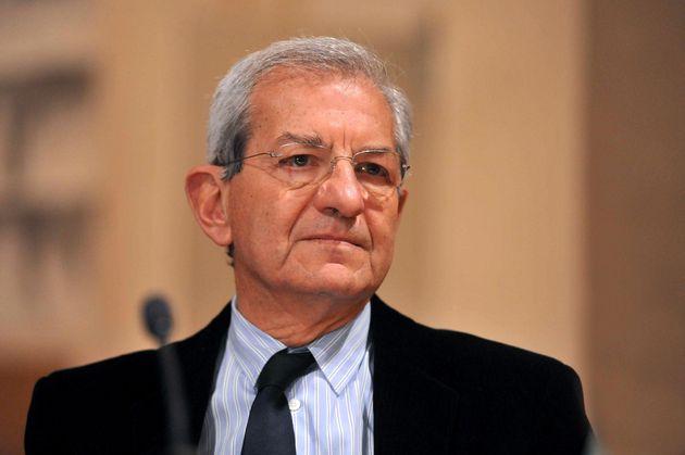 BOLOGNA, ITALY - NOVEMBER 21: Luciano Violante PD democratic party senator attends the Michele Vietti...