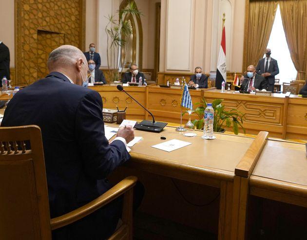 Φωτογραφία αρχείου- Επίσκεψη Υπουργού Εξωτερικών, Νίκου Δένδια, στην Αίγυπτο Συνάντηση με τον Υπουργό...