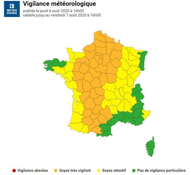 45 départements ont été placés en vigilance orange canicule par Météo