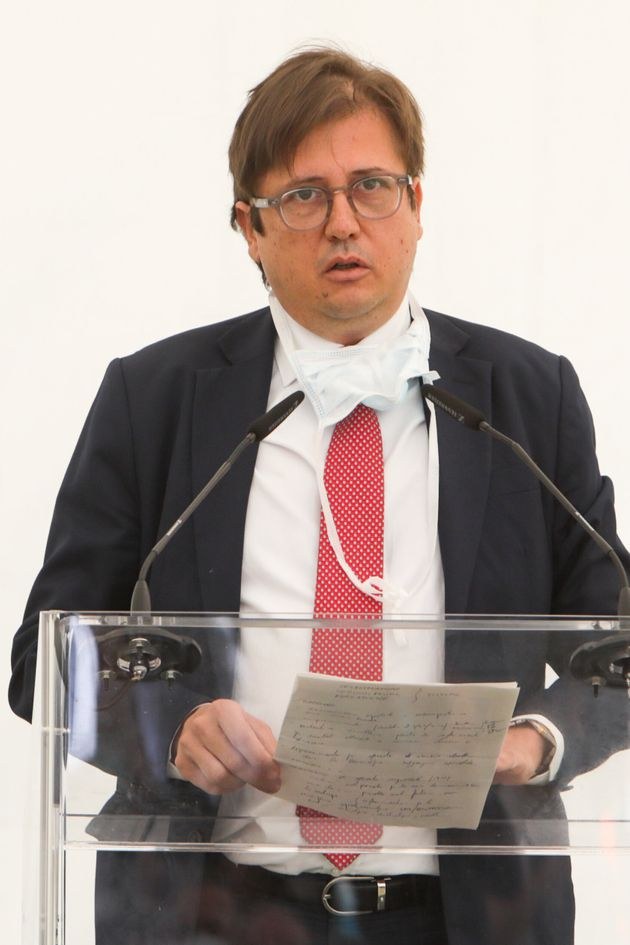 Pierpaolo Sileri at Inauguration of the new intensive care unit at Sacco Hospital in Milan, Italy, May...