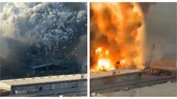Nel video di una coppia la dinamica del disastro di Beirut: il fumo, poi la deflagrazione